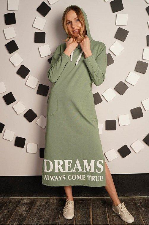 Платье женское РУСЯ 6624758 зеленый купить оптом в HappyWear.ru