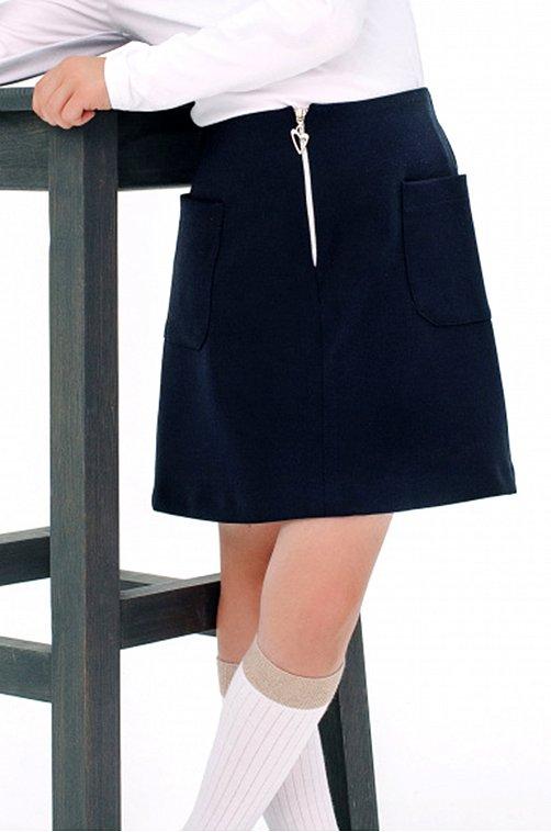 Юбка для девочки SHERYSHEFF 6602484 синий купить оптом в HappyWear.ru