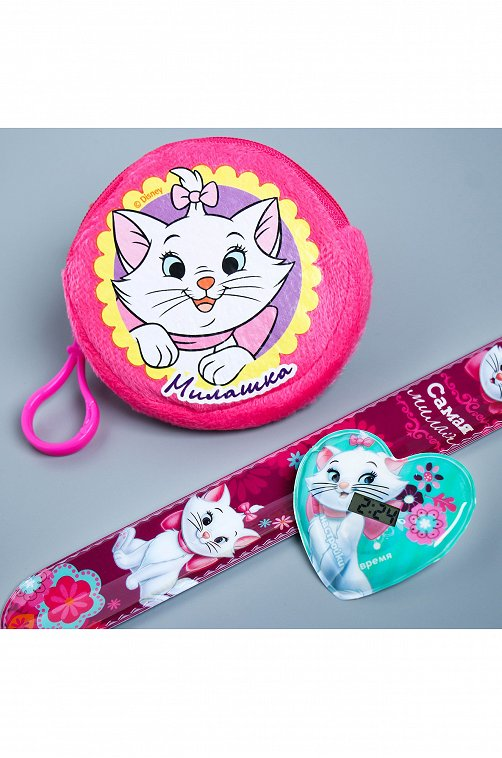 Набор кошелек и часы для девочки Disney 6588199 розовый купить оптом в HappyWear.ru