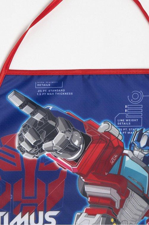 Фартук для труда с нарукавниками Hasbro optimus.prime,синий