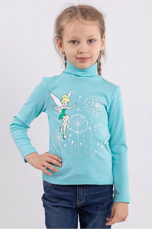 Водолазка для девочки Свiтанак 6613894 голубой купить оптом в HappyWear.ru