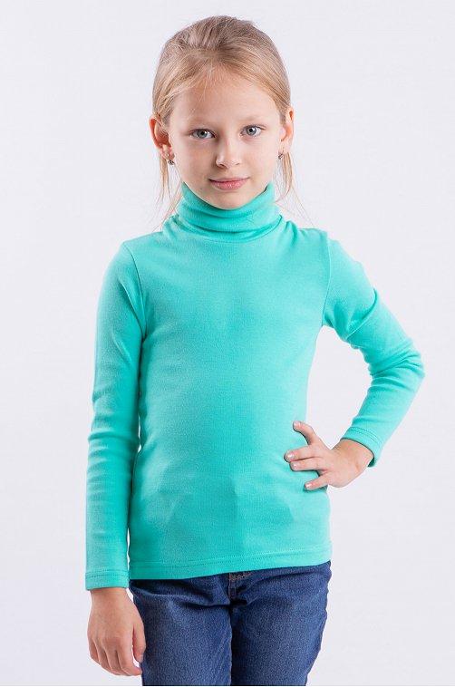 Водолазка для девочки Свiтанак 6613901 голубой купить оптом в HappyWear.ru