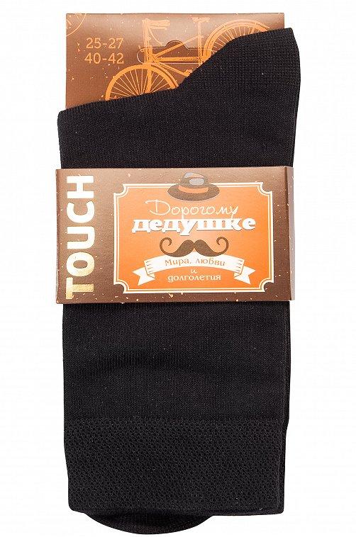 Подарочные мужские носки TOUCH 6548799 черный купить оптом в HappyWear.ru