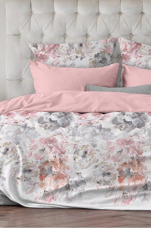 Постельное белье из сатина, евро, наволочки 70*70 Унисон 6603574 розовый купить оптом в HappyWear.ru