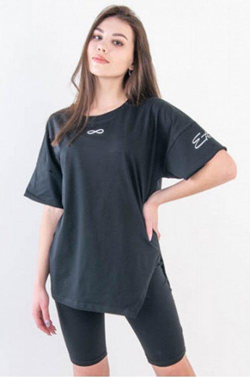 Женский костюм в стиле спорт 6646934 черный купить оптом в HappyWear.ru