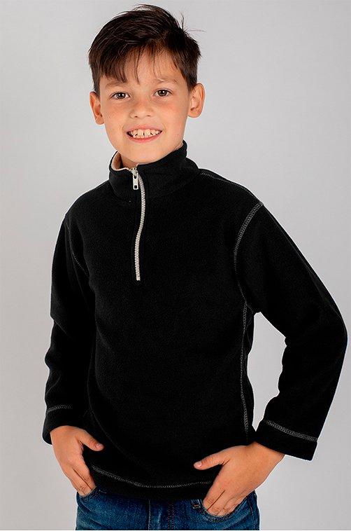 Флисовый джемпер для мальчика YOULALA 6630748 черный купить оптом в HappyWear.ru