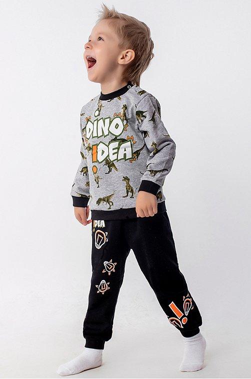 Утепленный костюм для мальчика YOULALA серый.черный