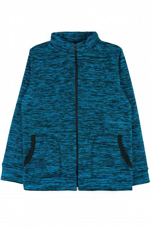 Флисовый джемпер для мальчика YOULALA 6626417 синий купить оптом в HappyWear.ru