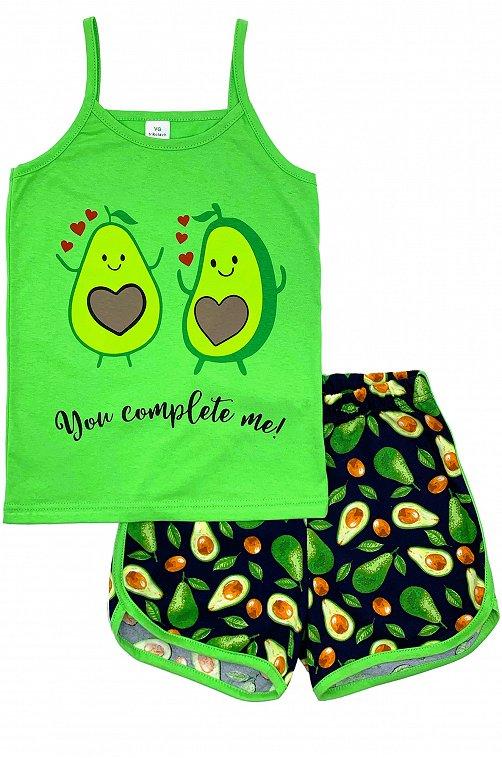 Пижама для девочки VGtrikotazh 6632083 синий купить оптом в HappyWear.ru