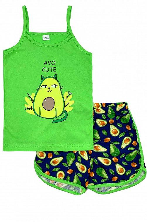 Пижама для девочки VGtrikotazh 6632085 синий купить оптом в HappyWear.ru
