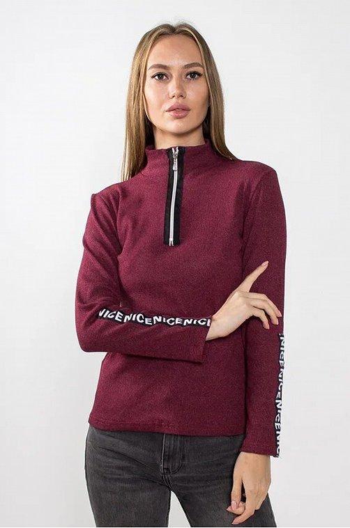 Водолазка женская VGtrikotazh 6628409 красный купить оптом в HappyWear.ru