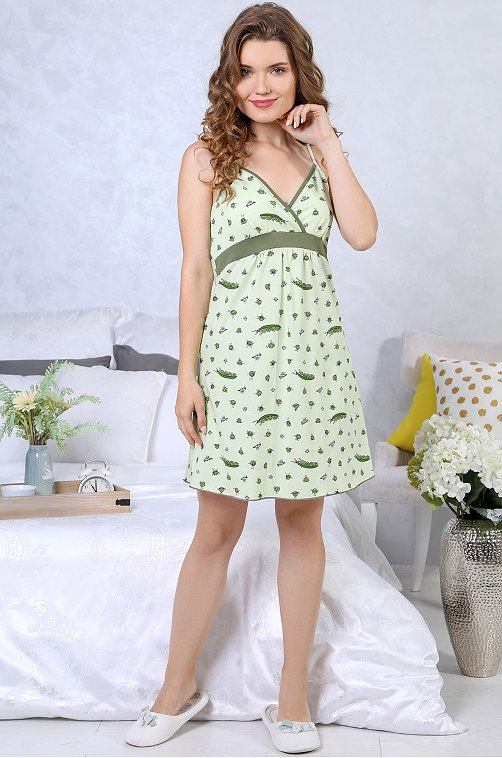 Сорочка женская VLT VIOLETTA 6627384 зеленый купить оптом в HappyWear.ru
