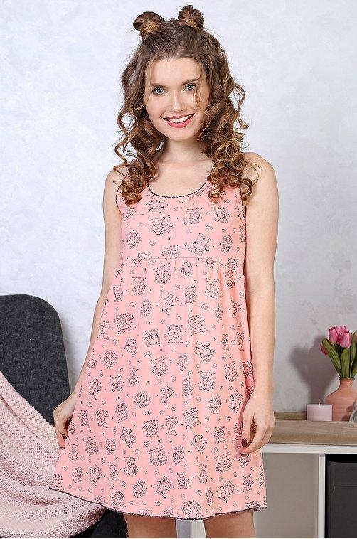 Сорочка женская VLT VIOLETTA 6620093 мультиколор купить оптом в HappyWear.ru