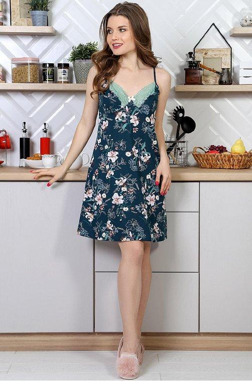 Сорочка женская VLT VIOLETTA 6630260 зеленый купить оптом в HappyWear.ru