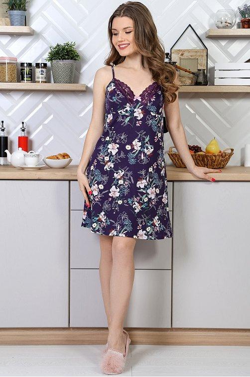 Сорочка женская VLT VIOLETTA 6630261 фиолетовый купить оптом в HappyWear.ru