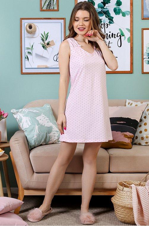 Сорочка женская VLT VIOLETTA 6630263 бежевый купить оптом в HappyWear.ru