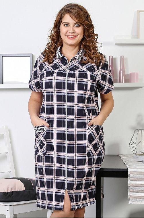 Халат женский VLT VIOLETTA 6626120 мультиколор купить оптом в HappyWear.ru